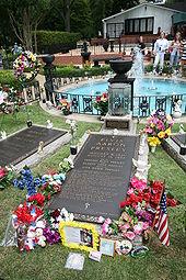 Elvis gravesite at Graceland