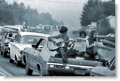 Traffic headed towards Woodstock - August 15, 1969