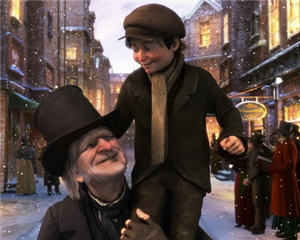 Scrooge and Tiny Tim