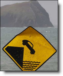 Don't drive your car off the cliff into the ocean.